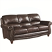Lockhart Sofa in Brown Leather by Coaster - 504691
