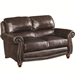 Lockhart Loveseat in Brown Leather by Coaster - 504692
