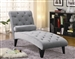 Gray Velour Accent Chaise by Coaster - 550067