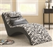 Zebra Print Accent Chaise by Coaster - 550071