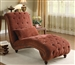 Traditional Chaise in Sanguine Chenille by Coaster - 550074