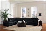 Quinn BUILD YOUR OWN Black Leather Sectional by Coaster - 551031-B
