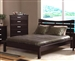 Stuart Platform Bed in Rich Cappuccino Finish by Coaster - 5631Q