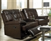 Grace 3 Piece Brown Leather Theater Seating by Coaster - 600137-3