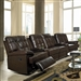 Grace 6 Piece Brown Leather Theater Seating by Coaster - 600137-6
