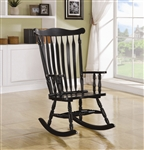 Traditional Wood Rocker in Black Finish by Coaster - 600185