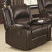 Boston Recliner in Brown Leather Like Vinyl Upholstery by Coaster - 600973