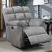 Grey Microfiber Glider Recliner by Coaster - 601017