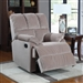 Beige Velvet Rocker Recliner by Coaster - 601023