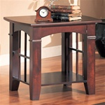 Cherry Finish End Table by Coaster - 700007
