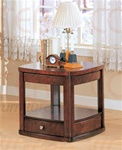 End Table in Distressed Cherry Finish by Coaster - 700247E