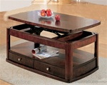 Coffee Table in Distressed Cherry Finish by Coaster - 700248