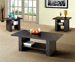 3 Piece Occasional Table Set in Black Finish by Coaster - 700345