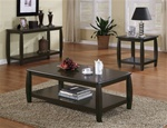 3 Piece Occasional Table Set in Cappuccino Finish by Coaster - 701078-S