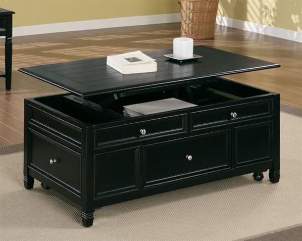 Lift Top Cocktail Table In Black Finish By Coaster 701138