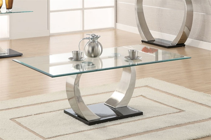 glass top coffee table by coaster 701238. Black Bedroom Furniture Sets. Home Design Ideas