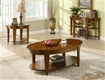 Oval Lift Top Coffee Table in Cherry Finish by Coaster - 701308
