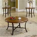 Wood and Metal 3 Pc Occasional Table Set by Coaster - 701520