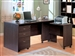 Decarie 3 Piece Home Office Desk in Rich Dark Finish by Coaster - 800251