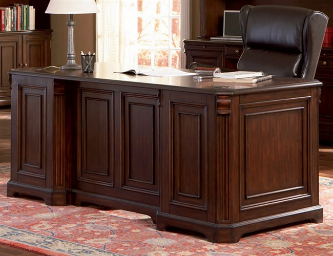 Home Office Executive Desk in Rich Dark Finish by Coaster - 800564