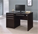 Desk in Cappuccino Finish by Coaster - 800702
