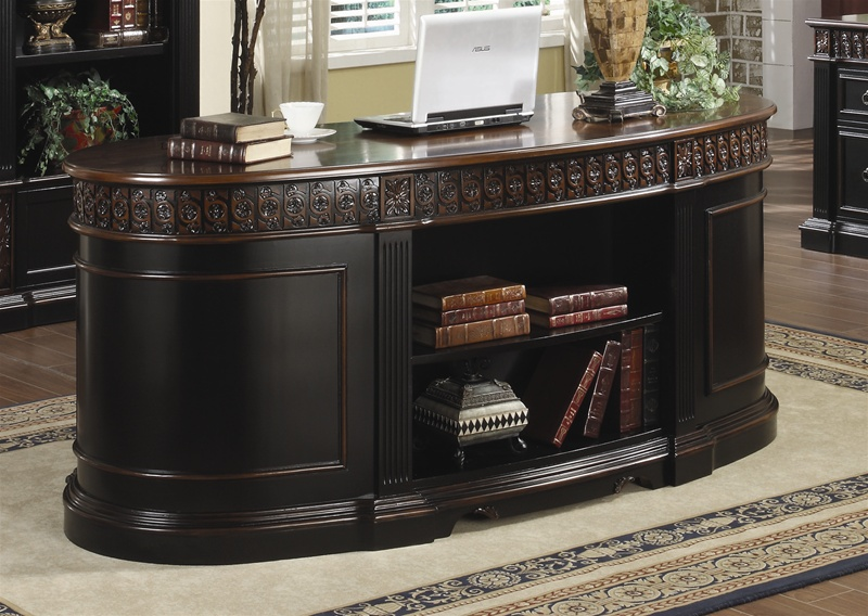 Nicolas Home Office Executive Desk in Two Tone Finish by Coaster