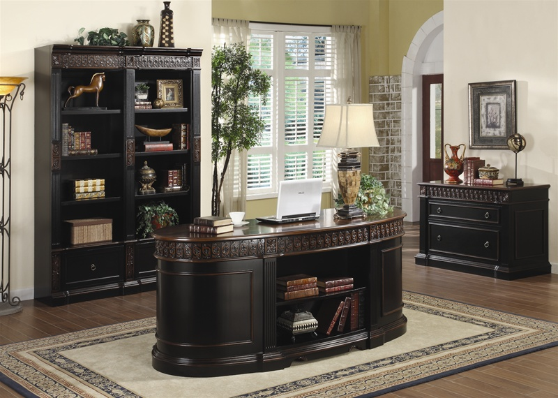 Nicolas 3 Piece Traditional Home Office Executive Set In