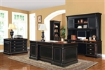 Ravenel 4 Piece Traditional Home Office Executive Set in Two Tone Finish by Coaster - 801721-4