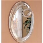 Silver Oval Wall Mirror by Coaster - 900188