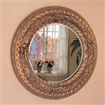 Bronze Finished Frame Round Accent Mirror by Coaster - 900208
