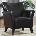 Black Vinyl Upholstered Arm Chair by Coaster - 900253