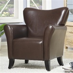 Brown Vinyl Upholstered Arm Chair by Coaster - 900254