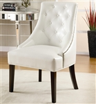 White Lounge Chair by Coaster - 900283