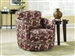 Oblong Pattern Fabric Swivel Accent Chair by Coaster - 900406