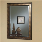 Black and Copper Frame Accent Mirror by Coaster - 900696