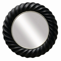 Espresso Finished Frame Round Accent Mirror by Coaster - 901732