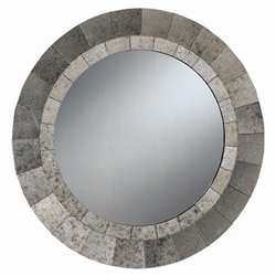 Mottled Frame Round Accent Mirror by Coaster - 901743