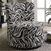 Exotic Zebra Stripes Fabric Accent Seating Round Swivel Chair by Coaster - 902002