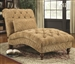 Traditional Golden Toned Accent Chaise by Coaster - 902077