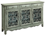 Accent Cabinet in Antiqued Green Finish by Coaster - 950357