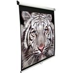 "Manual Pull Down Projection Screen 73"" x 73"" - Matte White-White Case - 99"" Diagonal"