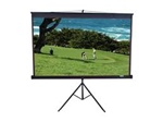 "Tripod Projection Screen 80"" x 80"" - Black Case- Matte White - 113"" Diagonal"
