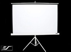 "Tripod Portable Projection Screen 70"" x 70"" - White Case- Matte White - 99"" Diagonal"