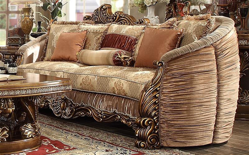 Lavish Old World 2 Piece Living Room Set By Homey Design