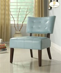 Warner Sky Blue Bi-Cast Accent Chair by Homelegance - 489BL