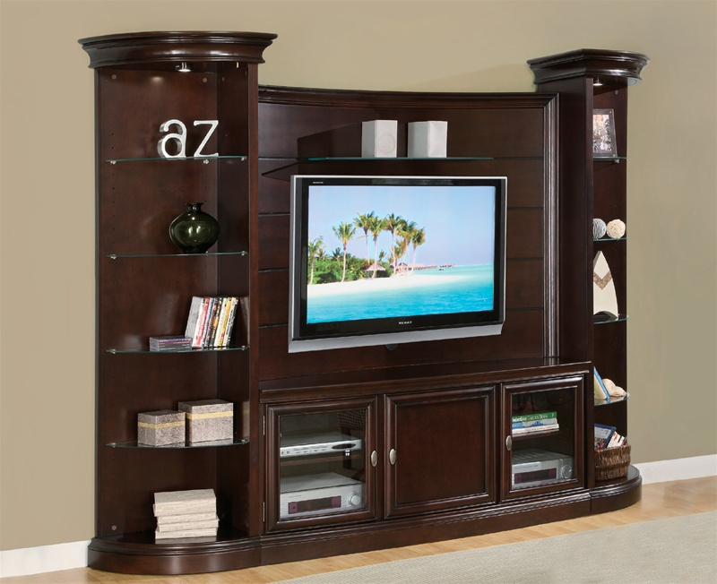 Koppaz 4 Piece Entertainment Center In Rich Espresso