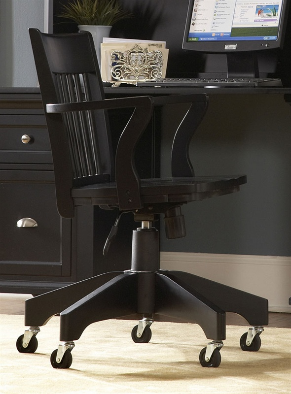 Hanna Home Office Swivel Chair in Black Finish by Homelegance