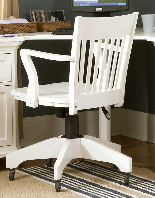 hanna home office swivel chair in white finish by homelegance 8891s