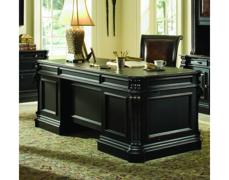 Where Is Hooker Furniture Made ... Executive Desk with Wood Panels by Hooker Furniture HF-370-10-563