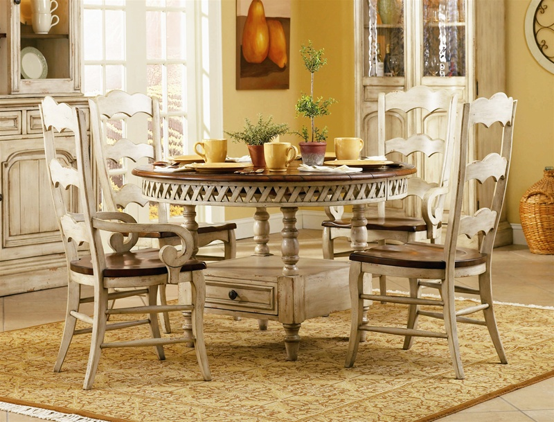 Summerglen 5 Piece Round Dining Table with Three Rung  : HF 479 75 201 2 from www.homecinemacenter.com size 800 x 609 jpeg 235kB